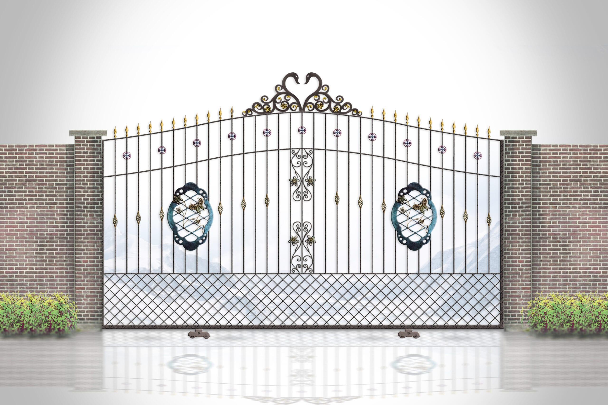 ประตูรั้วเหล็กดัด มีลักษณะอย่างไร