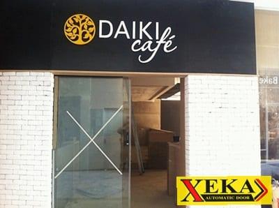 ร้าน Daiki Cafe ติดตั้งประตูอัตโนมัติแบบบานเลื่อน XEKA