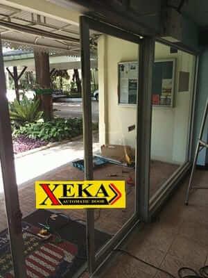 ติดตั้งประตูบานเลื่อนอัตโนมัติ  XEKA ที่สถานทูตสหรัฐฯ