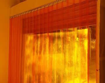 ม่านริ้ว PVC strip curtain