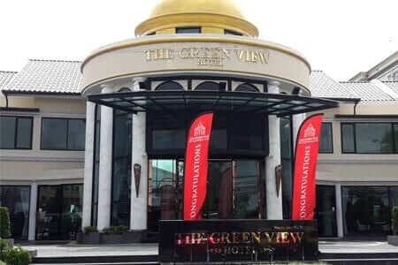 The Green View Hotel ติดตั้ง ระบบประตูเลื่อนอัตโนมัติ